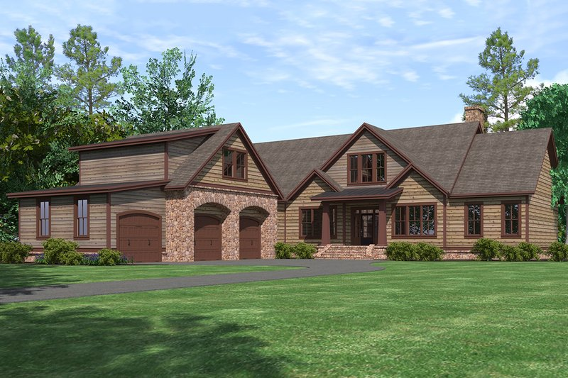 Craftsman Exterior - Front Elevation Plan #1071-22