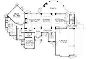Mediterranean Style House Plan - 4 Beds 4 Baths 3069 Sq/Ft Plan #80-141 Floor Plan - Main Floor Plan