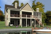Traditional Style House Plan - 5 Beds 4 Baths 3062 Sq/Ft Plan #63-412 Exterior - Rear Elevation