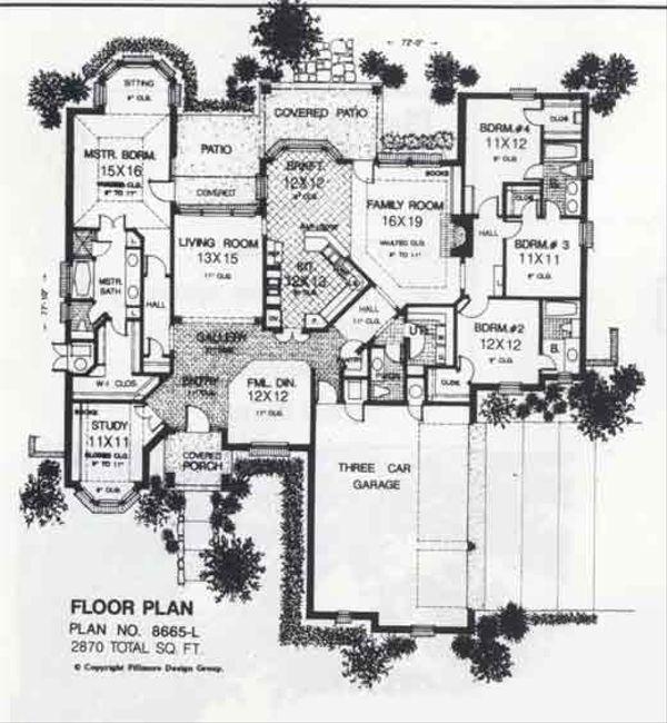 Colonial Floor Plan - Main Floor Plan #310-881