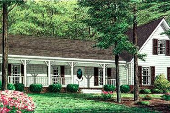 Traditional Exterior - Front Elevation Plan #34-151