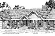 Traditional Style House Plan - 3 Beds 2 Baths 2211 Sq/Ft Plan #47-278 Exterior - Front Elevation