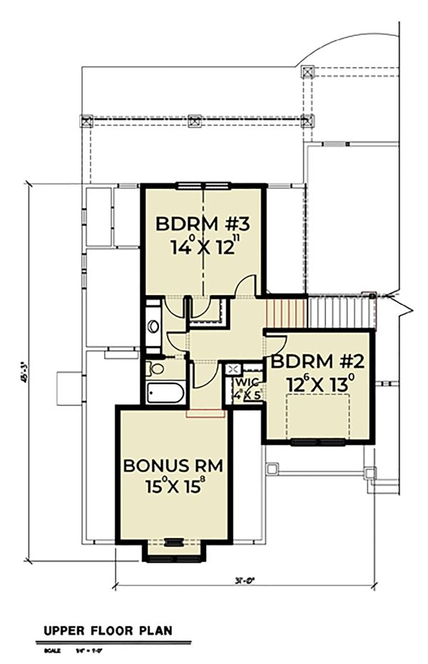 Dream House Plan - Craftsman Floor Plan - Upper Floor Plan #1070-58