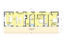 Ranch Floor Plan - Main Floor Plan Plan #888-4