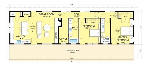 House Design - Ranch Floor Plan - Main Floor Plan #888-4