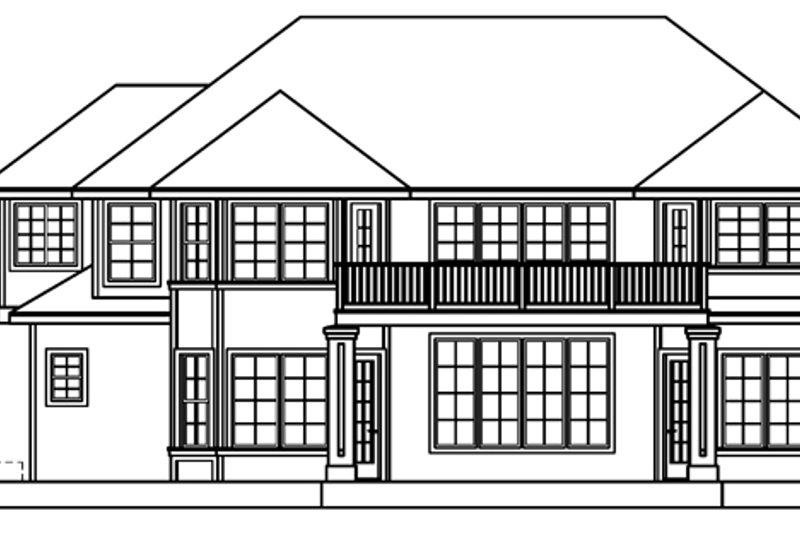 European Exterior - Rear Elevation Plan #124-500 - Houseplans.com