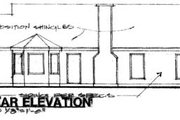 Ranch Style House Plan - 3 Beds 2 Baths 1350 Sq/Ft Plan #30-127 Exterior - Rear Elevation