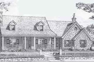 Colonial Exterior - Front Elevation Plan #310-803