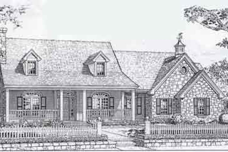 Colonial Style House Plan - 4 Beds 2.5 Baths 2118 Sq/Ft Plan #310-803 Exterior - Front Elevation