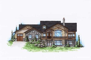 Architectural House Design - Craftsman Exterior - Front Elevation Plan #5-277