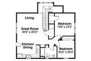 Craftsman Style House Plan - 5 Beds 3 Baths 2288 Sq/Ft Plan #124-803 Floor Plan - Upper Floor Plan