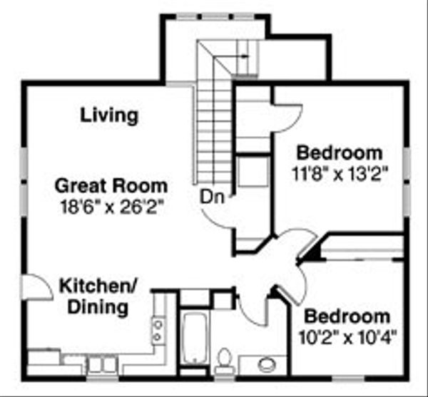 Craftsman Floor Plan - Upper Floor Plan Plan #124-803
