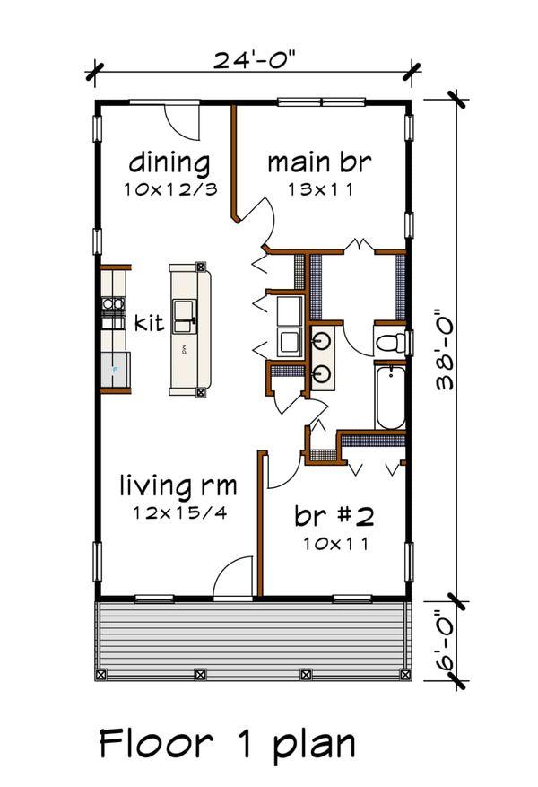 House Plan Design - Cottage Floor Plan - Main Floor Plan #79-108