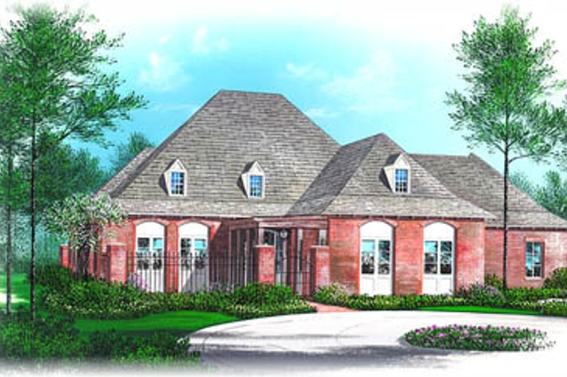 European Style House Plan - 3 Beds 3.5 Baths 2928 Sq/Ft Plan #15-236 Exterior - Front Elevation