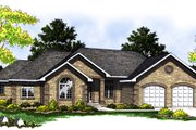 Ranch Style House Plan - 3 Beds 2.5 Baths 1843 Sq/Ft Plan #70-217 Exterior - Front Elevation