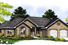 Ranch Exterior - Front Elevation Plan #70-217