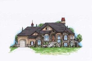 Architectural House Design - European Exterior - Front Elevation Plan #5-288