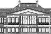 European Style House Plan - 4 Beds 5.5 Baths 7281 Sq/Ft Plan #119-194 Exterior - Rear Elevation