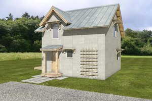 Cottage Exterior - Front Elevation Plan #497-62