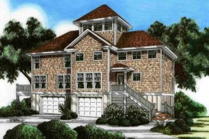 Mediterranean Exterior - Front Elevation Plan #991-17