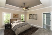 Craftsman Style House Plan - 4 Beds 3 Baths 2569 Sq/Ft Plan #929-953 Interior - Master Bedroom