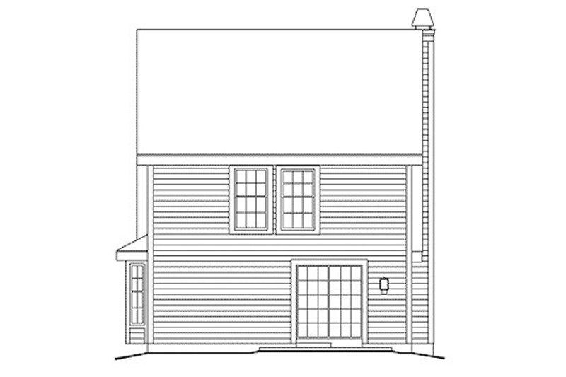 Country Exterior - Rear Elevation Plan #57-301 - Houseplans.com