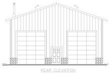 House Plan Design - Modern Exterior - Rear Elevation Plan #117-903