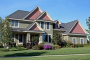 Craftsman Style House Plan - 4 Beds 3.5 Baths 3162 Sq/Ft Plan #51-449 Exterior - Front Elevation