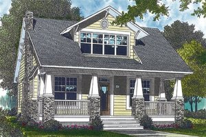 House Design - Craftsman Exterior - Front Elevation Plan #453-3