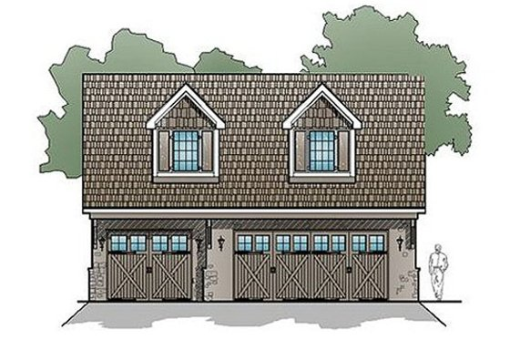 Traditional Exterior - Front Elevation Plan #123-107
