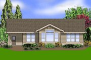 Craftsman Style House Plan - 2 Beds 2 Baths 1728 Sq/Ft Plan #48-411 Exterior - Rear Elevation