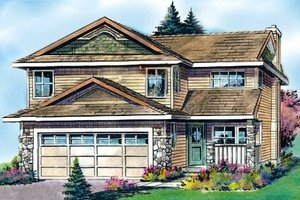 Architectural House Design - Traditional Exterior - Front Elevation Plan #427-7