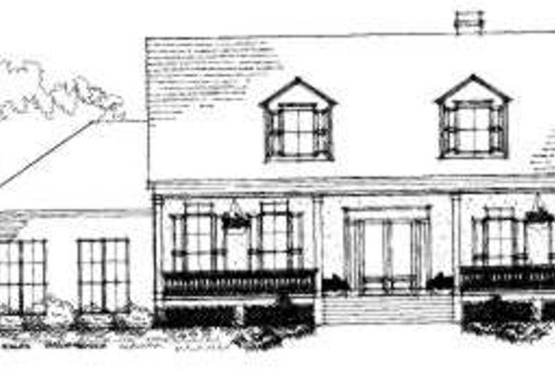 Southern Exterior - Front Elevation Plan #325-212
