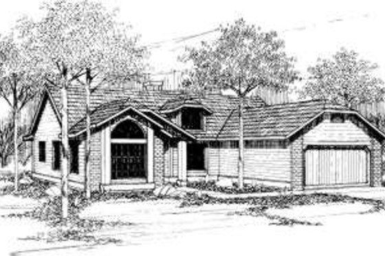 Ranch Exterior - Front Elevation Plan #305-106