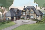 European Style House Plan - 5 Beds 6 Baths 7669 Sq/Ft Plan #928-3 Exterior - Front Elevation