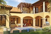 Mediterranean Style House Plan - 4 Beds 5 Baths 3031 Sq/Ft Plan #930-22 Exterior - Rear Elevation
