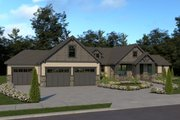 Craftsman Style House Plan - 3 Beds 2.5 Baths 2546 Sq/Ft Plan #1070-38 Exterior - Front Elevation