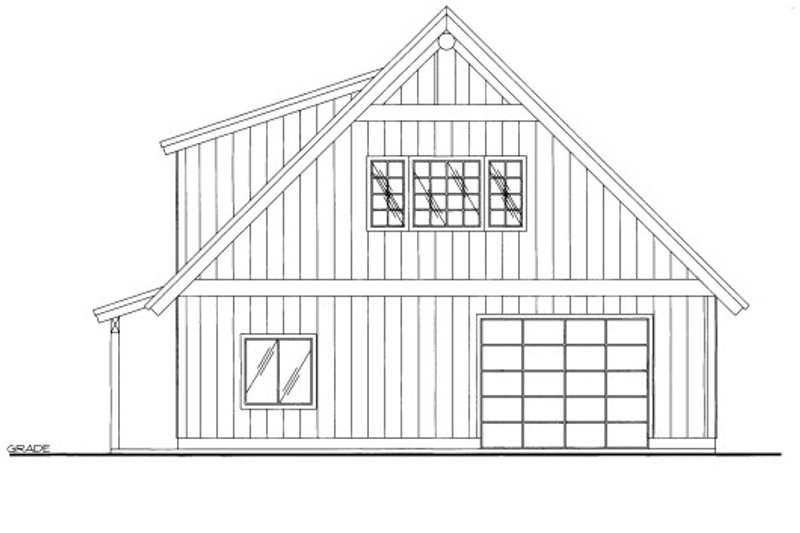Country Style House Plan - 0 Beds 0 Baths 708 Sq/Ft Plan #117-799 Exterior - Front Elevation