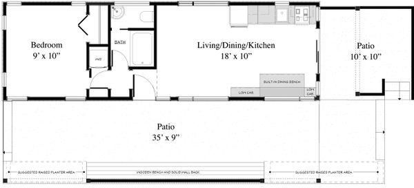 Contemporary Floor Plan - Main Floor Plan Plan #917-6