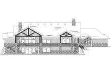House Plan Design - Traditional Exterior - Rear Elevation Plan #5-337