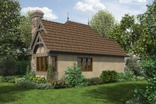 Cottage Exterior - Rear Elevation Plan #48-645