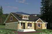 Craftsman Style House Plan - 3 Beds 2 Baths 1807 Sq/Ft Plan #51-551 Exterior - Rear Elevation