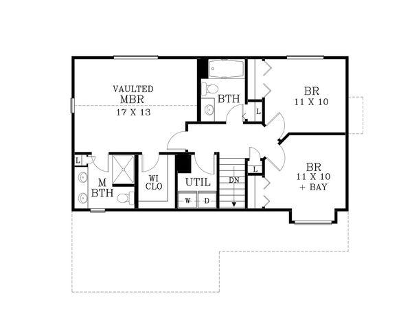 Craftsman Floor Plan - Upper Floor Plan Plan #53-499
