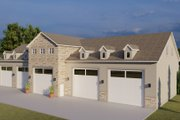 Farmhouse Style House Plan - 3 Beds 3 Baths 10240 Sq/Ft Plan #1060-83 Exterior - Front Elevation