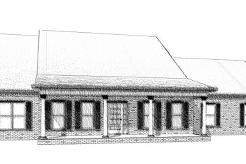 Country Style House Plan - 3 Beds 2.5 Baths 2632 Sq/Ft Plan #63-292 Exterior - Front Elevation