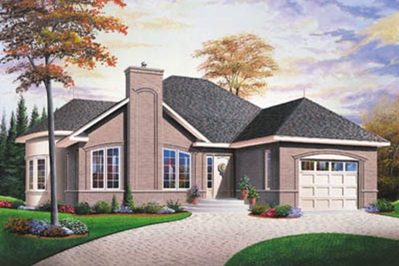 House Plan - 2 Beds 1 Baths 1178 Sq/Ft Plan #23-155 Exterior - Front Elevation