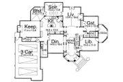 European Style House Plan - 5 Beds 4 Baths 4515 Sq/Ft Plan #119-241 Floor Plan - Main Floor Plan