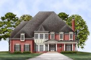 European Style House Plan - 5 Beds 4.5 Baths 4326 Sq/Ft Plan #119-105 Exterior - Front Elevation