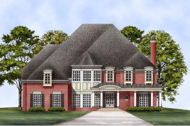 European Exterior - Front Elevation Plan #119-105 - Houseplans.com