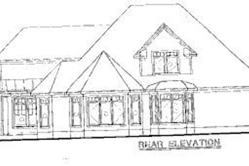Farmhouse Exterior - Rear Elevation Plan #20-752 - Houseplans.com